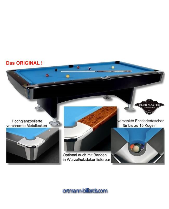 Pool Table Clubmaster Ft Ortmann Billiardscom Billiard - Master pool table