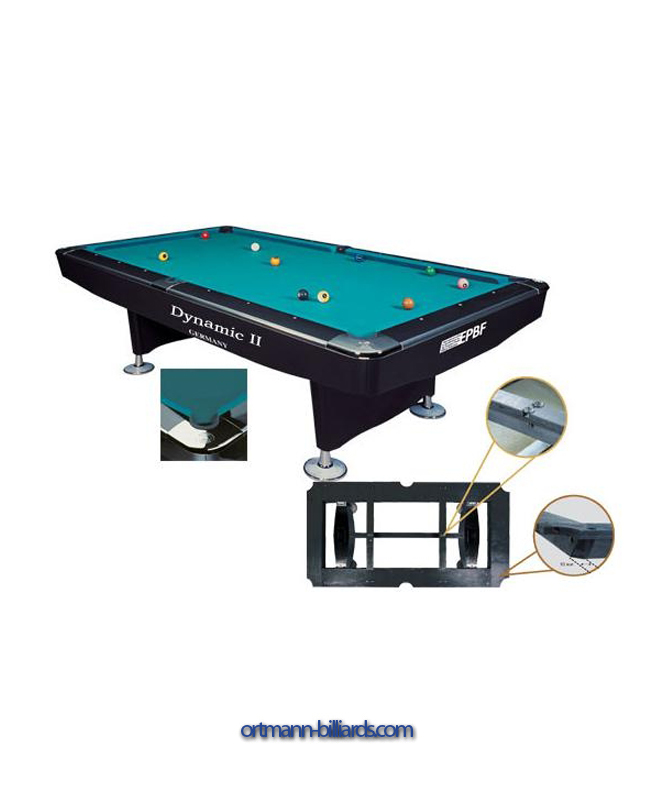 billardtisch dynamic ii 8 schwarz gl nzend pool ortmann billard online. Black Bedroom Furniture Sets. Home Design Ideas