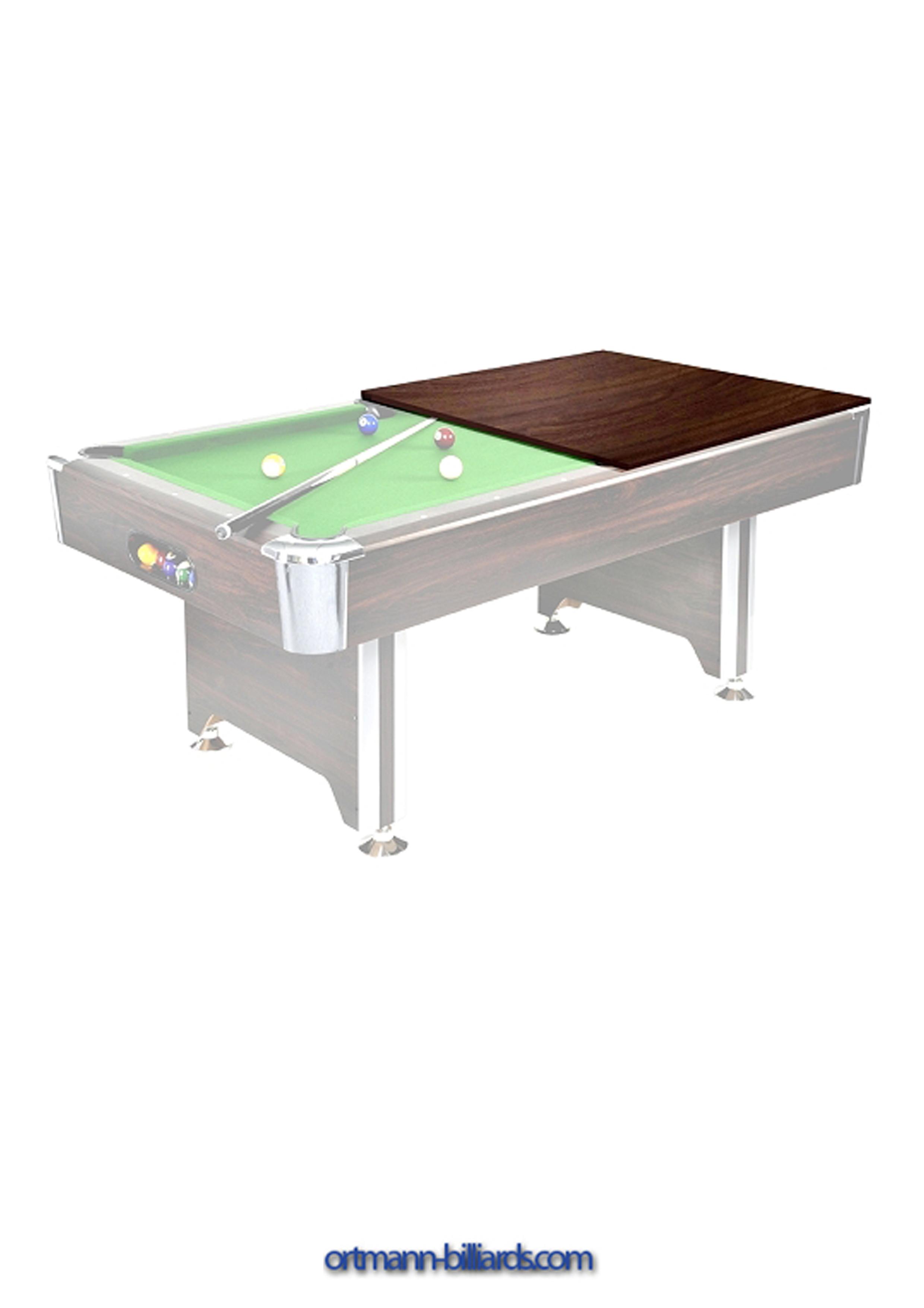 pool billardtisch mit abdeckplatte