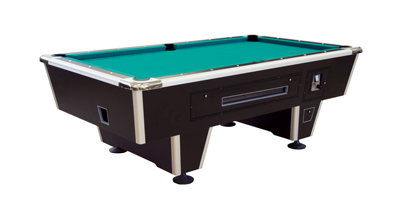 Billiard Table, Pool, Orlando 8 ft., black, coin operated